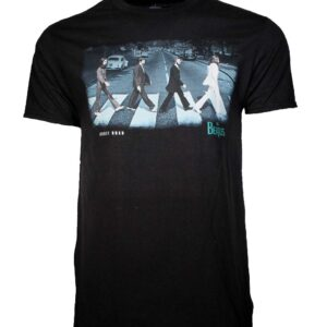 Beatles Abbey Stride Black T-Shirt